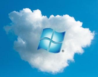 Il simbolo di Microsoft Azure, la piattaforma Cloud della compagnia informatica