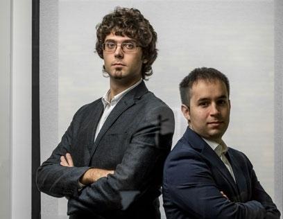 A destra il ceo di Horus, Saverio Murgia. A sinistra, il co-founder Luca Nardelli