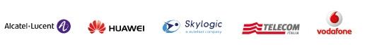 Alcatel-Lucent, Huawei, Skylogic,Telecom, Vodafone